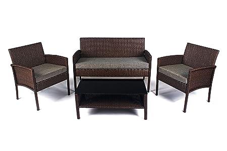 Gartenmöbel Polyrattan Lounge Sofa Gartenset Garnitur Sitzgruppe SAPPHIRE TEMA