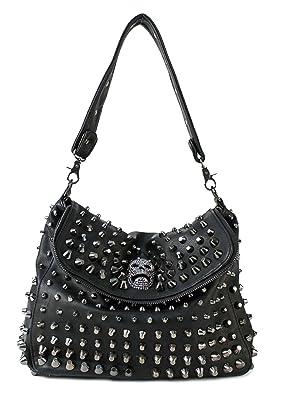 Black Studded Over The Shoulder Bag 46
