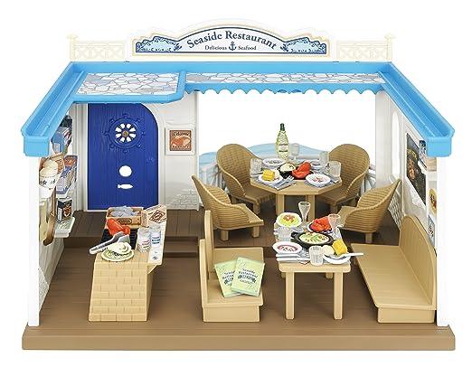 Sylvanian Families Seaside Restaurant – Restaurant Balnéaire – Bâtiment et Accessoires (Import UK)