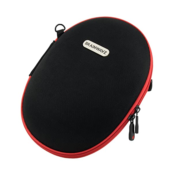 Brainwavz Large Hard Headphone Case - Suitable For Most Headphone Sizes - Removable Internal Pouch & Carrying Strap Included