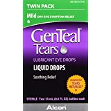 GenTeal Tears Lubricant Eye Drops, Mild Liquid Drops, Twin Pack, 15-mL
