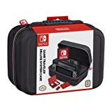 NINTENDO SWITCH DELUXE SYSTEM CASE; SECURELY HOLDS COMPLETE NINTENDO SWITCH SYSTEM INCLUDING: CHARGING DOCK, AC ADAPTER, HDMI CORD, TWO JOY-CONS, AND AN EXTRA SET OF JOY-CONS OR SWITCH PRO CONTROLLER