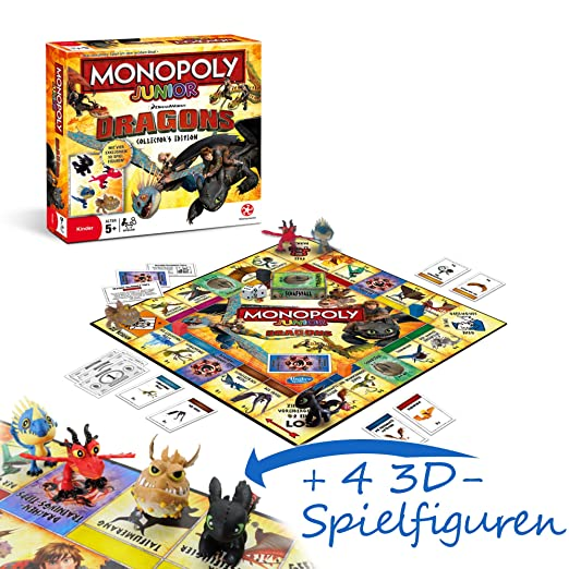 DreamWorks Dragons Jeu De Plateau Monopoly Junior Édition Collector - Edition Allemande