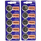 Sony CR2032 Lithium 3V Batteries (2 x Pack of 5)