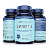 Candida 911 Best Candida Cleanse - Gentle & Effective Detox Complex w/Probiotics, Enzymes & Herbs - Rids Yeast Overgrowth - No Unpleasant Effects - Fast & Effective Support Supplement for Women & Men