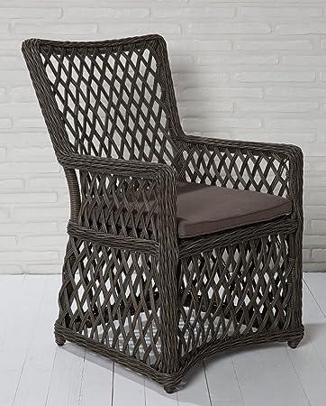 6x de alta calidad Polirratán silla de jardín ratán silla de jardín Sillas Muebles de Jardín Jardín-Sillón de relax Sillón Positios tapizadas Jardín Sillas Balcón sill