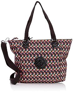 Kipling - Shopper Combo - Sac bandoulière mode - Femme - Multicolore (Party Dot) - Taille unique   Commentaires en ligne plus informations