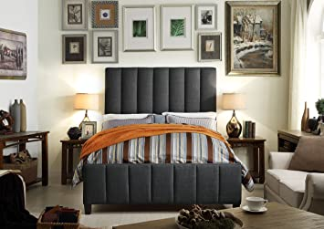 Millbury Home Isabel Charcoal Upholstery Bed