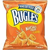 Bugles Nacho Cheese Flavor Crispy Corn Snacks Bag, 14.5 Ounce