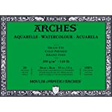 Arches Watercolor Paper Block, Cold Press, 10