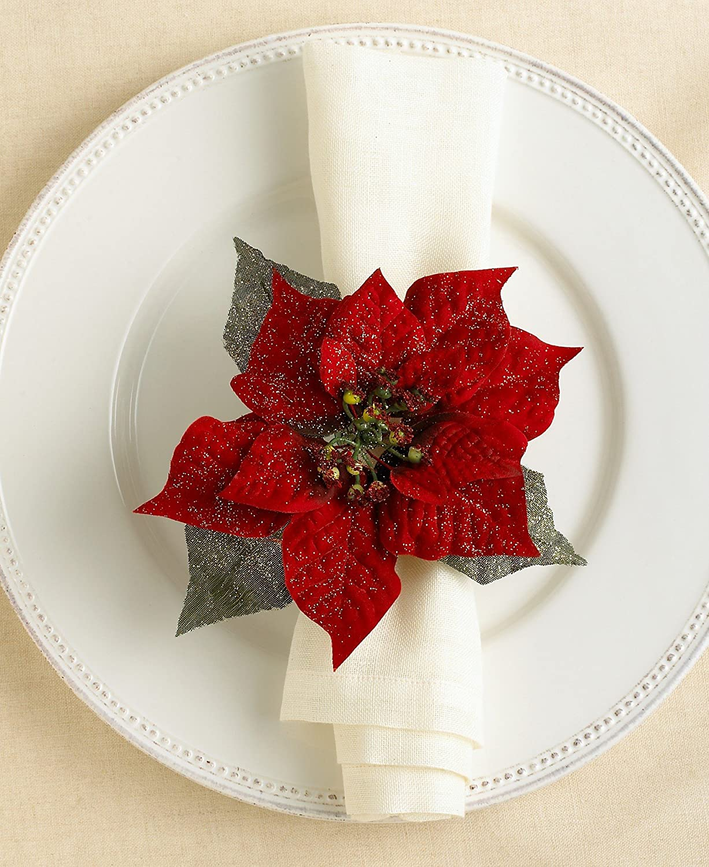 Poinsettia Napkin Rings Christmas Wikii