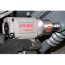 NitroCat 1355-XL 3/8-Inch Composite Air Impact Wrench With Twin Clutch Mechanism