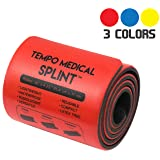TEMPO MEDICAL SPLINT For Immobilization First Aid Kit for Neck, Leg, Knee, Foot, Wrist, Hand, Arm Injuries Lightweight, Flexible, Washable, Reusable, Sam 36