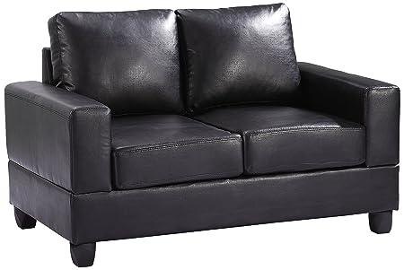 Glory Furniture G303A-L Living Room Love Seat, Black