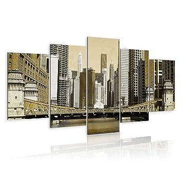 s impression sur toile 200x100 200x100 cm grand format 5 5 parties image sur. Black Bedroom Furniture Sets. Home Design Ideas
