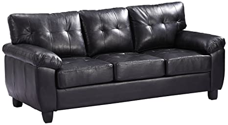 Glory Furniture G903A-S Living Room Sofa, Black