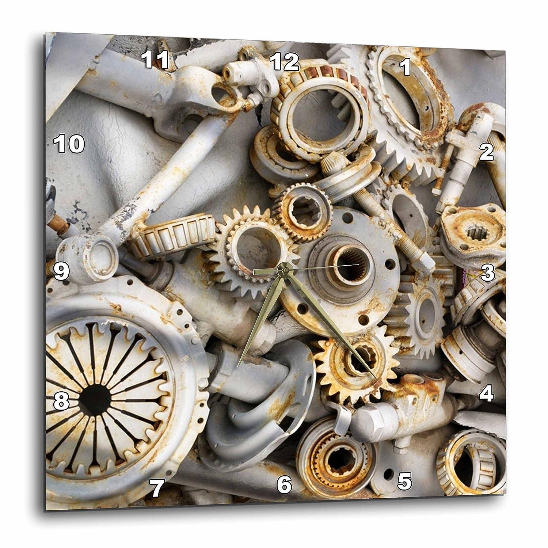 Florene Steam Punk - Steampunk Rusty Parts - 10x10 Wall Clock (dpp_45007_1)