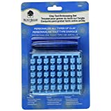 Walnut Hollow Clay Text Embossing Set- (Color: Blue)