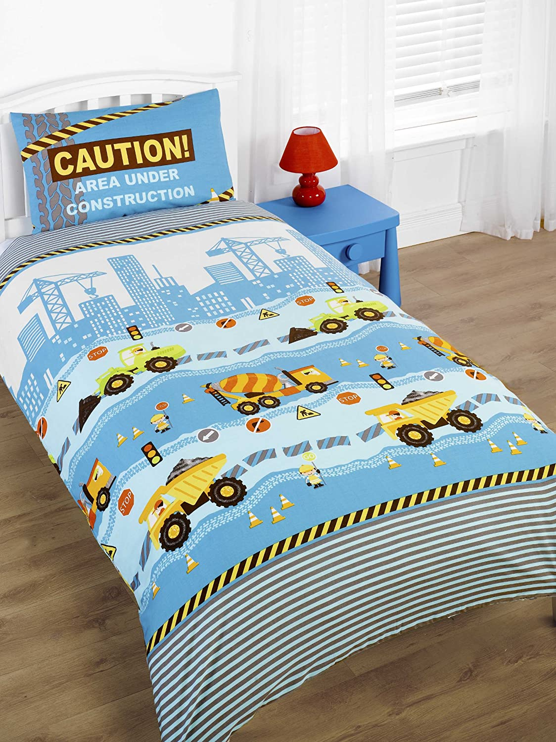 Boys Construction Sheets : Construction bedding totally kids bedrooms