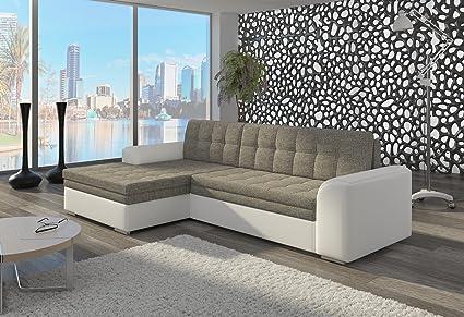 Couch Couchgarnitur Sofa Polsterecke CF08 Ottomane links, Soft 17/ Berlin 01 (die Ottomane kann schriftlich kostenlos auf die andere Seite geändert werden) Wohnlandschaft Schlaffunktion Wohnzimmer Kinderzimmer Gästezimmer