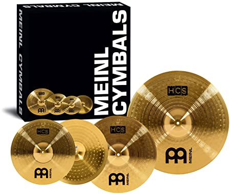 Meinl Cymbals HCS141620 HCS Cymbal Box Set Pack with 14-Inch Hi Hat Pair, 16-Inch Crash, 20-Inch Ride at amazon