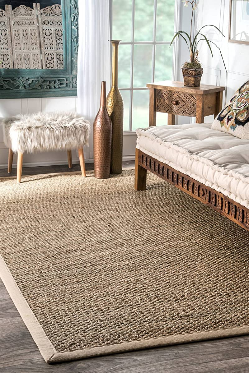 Nuloom Elijah Seagrass With Border Area Rug Beige 8 X 10