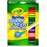 Crayola 20 Ct Super Tips Washable Markers (Color: Multi, Tamaño: 1 Pack)