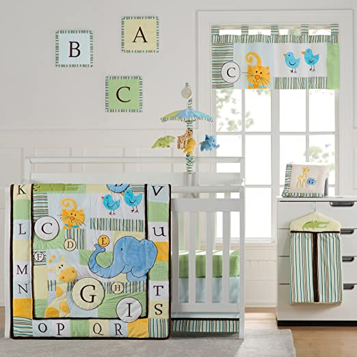 Laugh Giggle and Smile ABC Animal Friends Crib Bedding