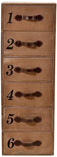 """SIT-Möbel 4750-30 Kommode """"Charleston"""", Shesham massiv mit Canvas bezogen und bedruckt, 6 Schubladen, 100 % BW, Lichtechtheit Klasse 3, Scheuertouren 30.000, Ledergriffe, 40 x 30 x 115 cm"""