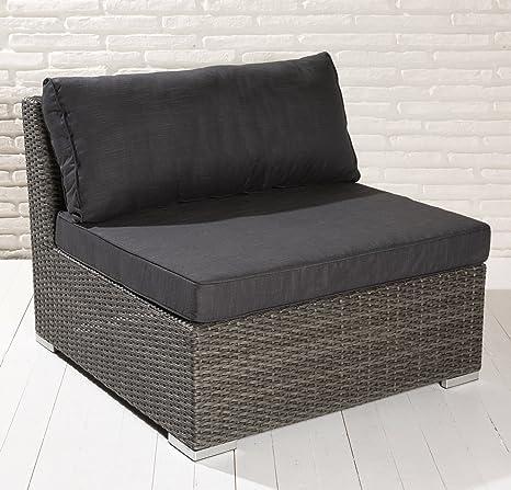 Medio Element Para Lujo Asiento Grupo artlive Grupo 6piezas incluye cojín Luxus Jardín-Conjunto de muebles de jardín (estructura de aluminio, ratán Asiento Grupo Muebles Asiento Grupo de conjunto de asiento de