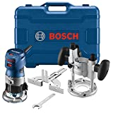 Bosch GKF125CEPK Colt 1.25 HP (Max) Variable-Speed Palm Router Combination Kit (Color: Blue)