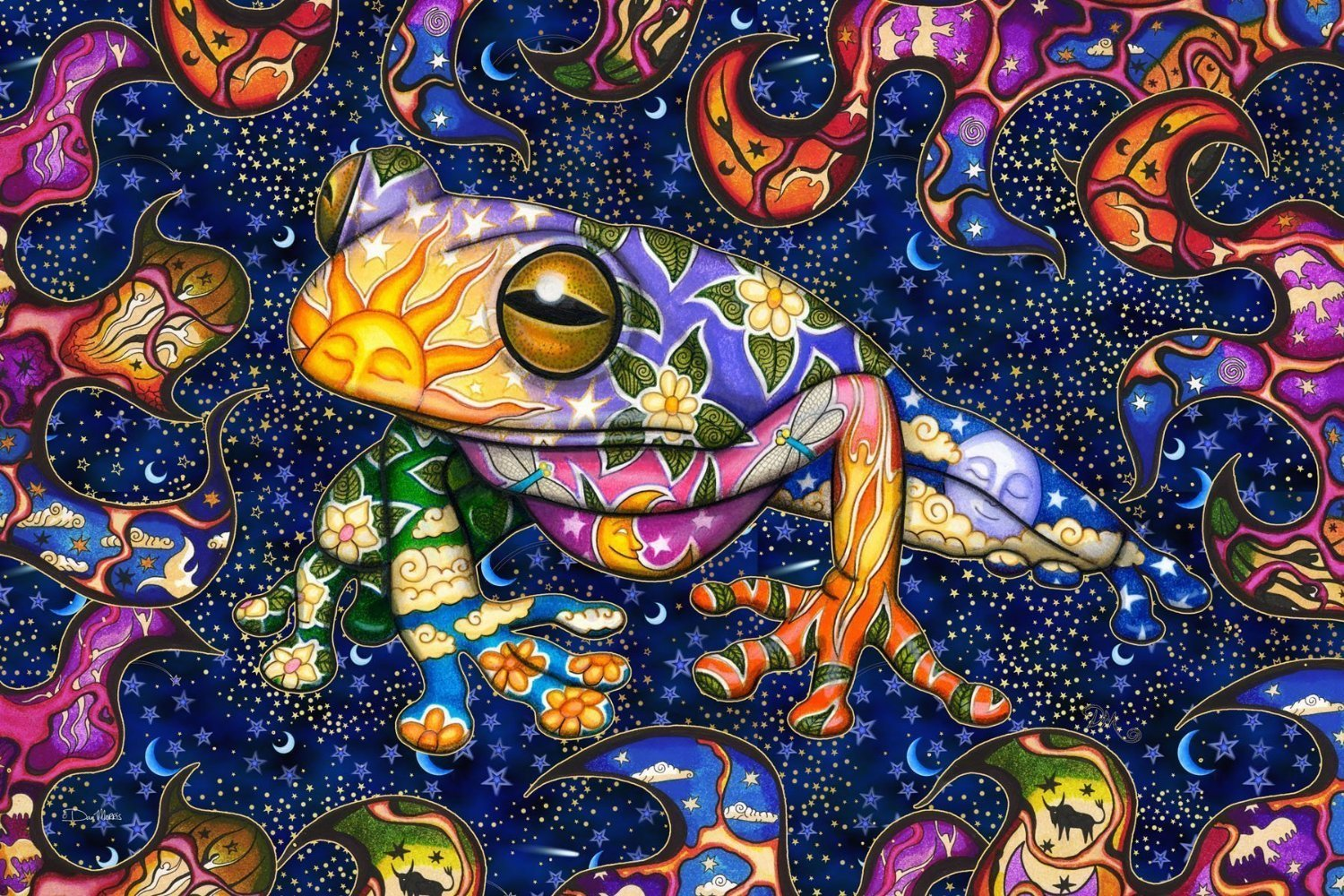 Psychedelic Peace Frog