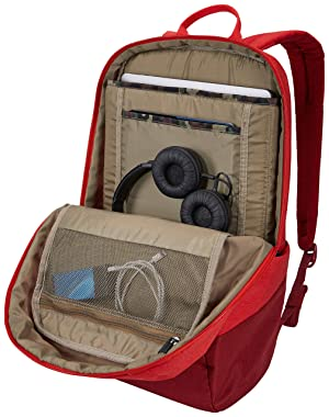 Thule Lithos Backpack 20L, Lava-Red Feather (Color: Lava/Red Feather, Tamaño: 20 L)