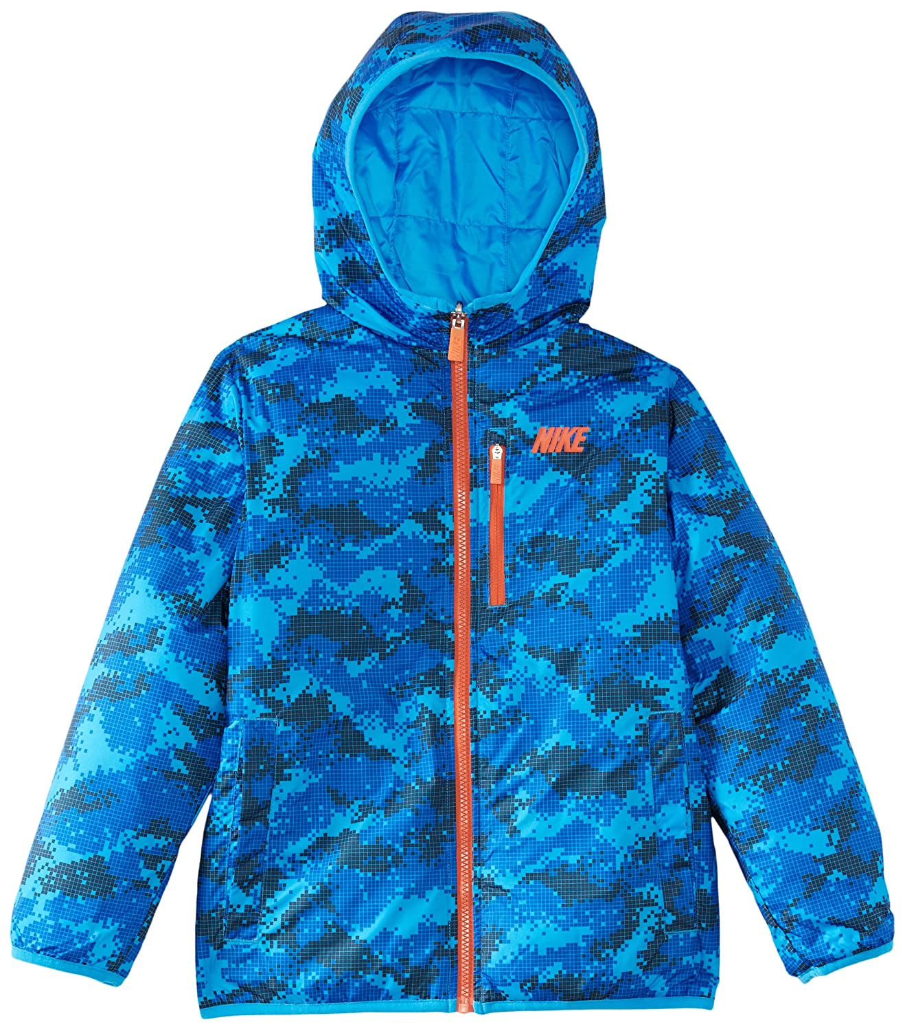 Nike Boy's Allianz Reversible Hooded Vest Small Blau - Armory Navy / Blue Hero / Team Orange