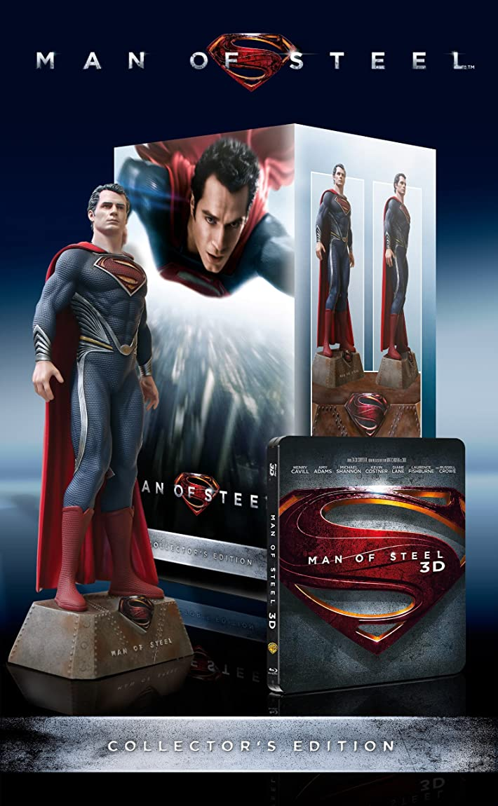 Man of Steel - Limited Collectors Ed. (Steelbook) [Blu-ray] [Import allemand]