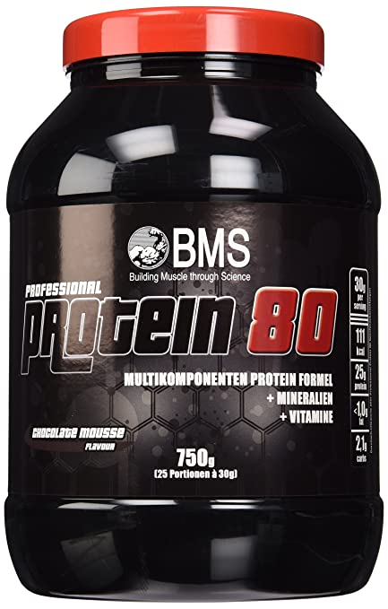 BMS Professional Protein 80 Schoko, 1er Pack (1 x 750 g)