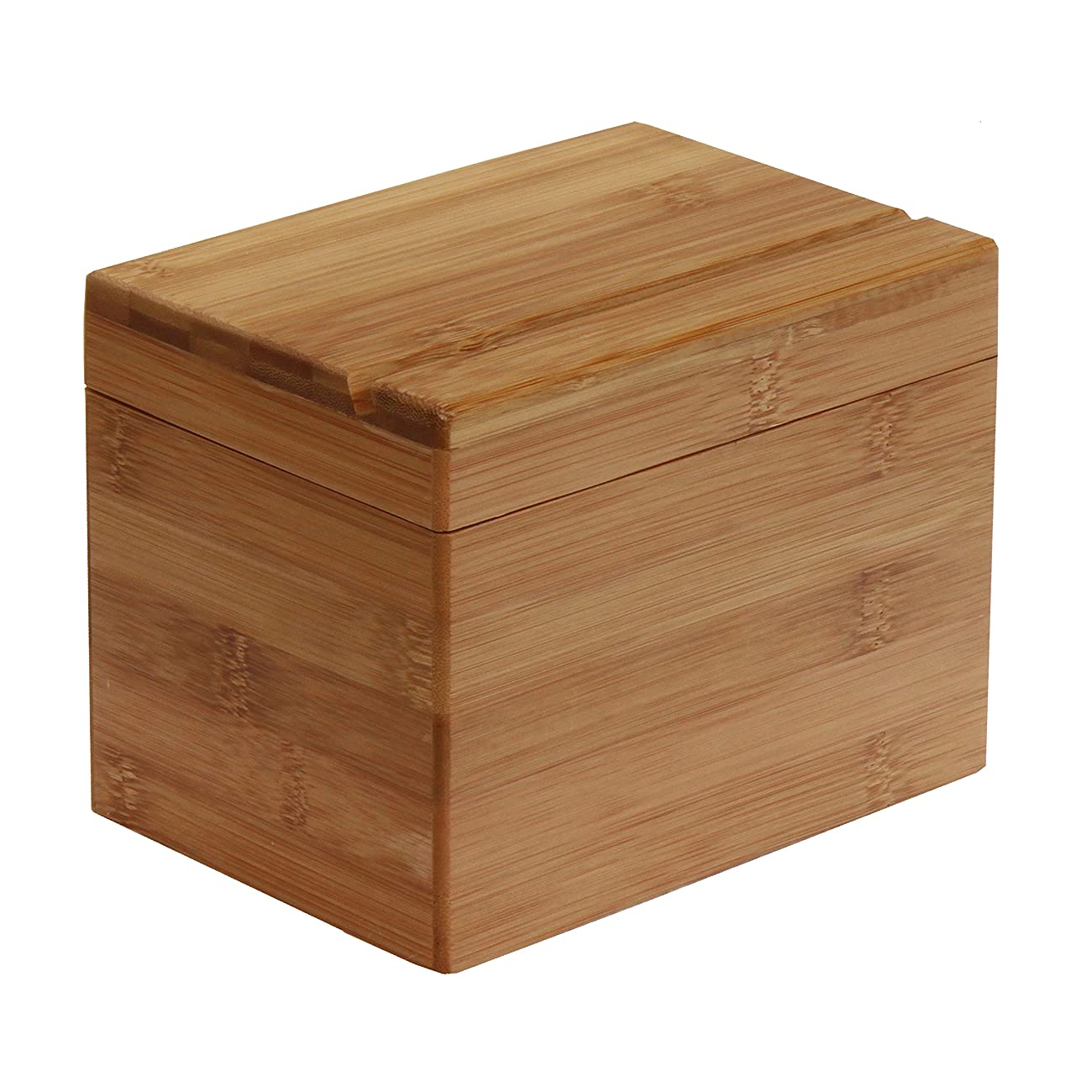 Oceanstar Bamboo Recipe Box with Divider, Natural 1