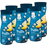 Gerber Puffs Cereal Snack, Banana, 1.48 Ounce, 6 Count ( Pack May Vary ) (Tamaño: 6 Count)