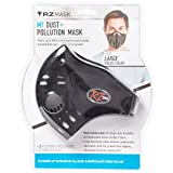 RZ Dust/Pollution Mask w/2 Laboratory Tested Filters, Model M1, Black, Size Regular/Large (Color: Black, Tamaño: Regular)