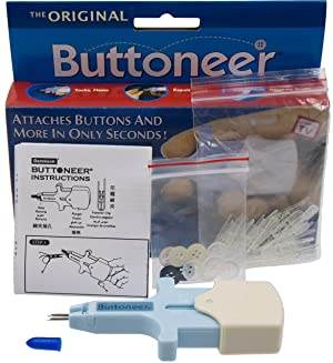 Avery Dennison The Original Buttoneer Fastening System by (Buttoneer System) (Color: Blue)