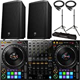 Pioneer DDJ-1000 rekordbox DJ Controller with 2x Electro Voice ZLX-12P Speaker and Accessories