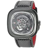 SEVENFRIDAY Men's P3-1 RACER Analog Display Japanese Automatic Black Watch (Color: Black/Gun Metal)