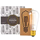 Edison Light Bulbs by Scandic Gear - 4 Pack - 60 Watts - Vintage Light Bulbs Add Antique Touch to Décor - Retro Light Bulbs for Vintage Lamps and Fixtures - Clear Glass Edison Light Bulb