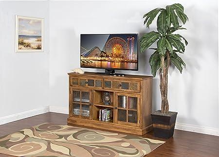 Sunny Designs Sedona TV Console in Rustic Oak