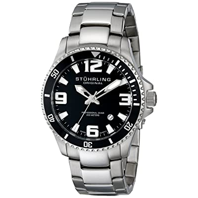 Stuhrling Original Men's 395.33B11 Aquadiver Regatta Champion Stainless Steel Dive Watch
