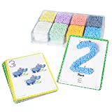 Educational Insights Playfoam Shape & Learn Numbers Set: Non-Toxic, Never Dries Out - Preschoolers Practice Numbers Recognition & Formation - Perfect for Ages 3 and up (Color: Multi)
