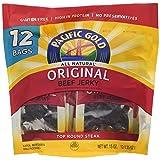 Pacific Gold Original Beef Jerky 12 - 1.25oz bags (Tamaño: 15OZ)