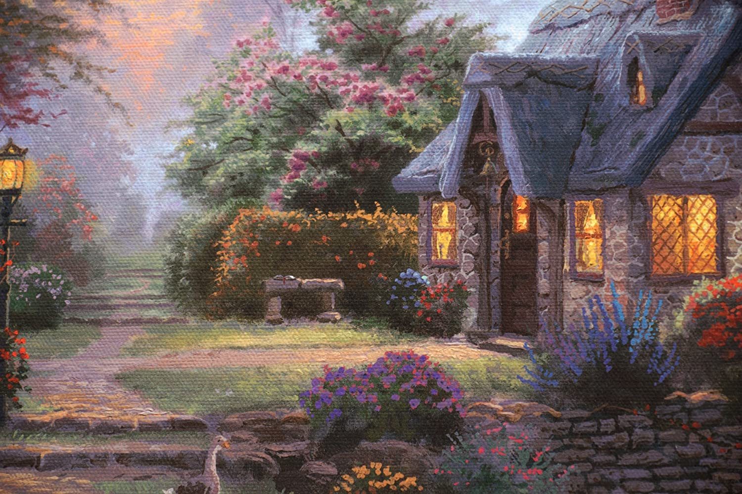 Thomas Kinkade Stillwater Cottage Gallery Wrap Canvas