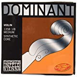 Thomastik-Infeld 135B.18 Dominant Violin Strings, Complete Set, 135B, 1/8 Size, With Chrome Steel Ball End E String