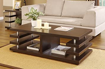 Ryu Ren Modern Coffee Table, Cappuccino